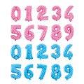 Rosa Azul Número Dígitos Fiesta de Cumpleaños Globos Foil Globos Decoración De La Boda Globos Suministros de Vacaciones de Navidad 32 pulgadas número