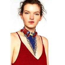 2016 Nuevo de las mujeres de bohemia collar y colgantes declaración multicolor gargantilla za collar antiguo de la joyería de boho étnico tribal mujer bijoux