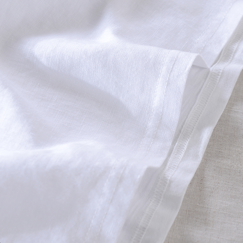 2019 Men's casual short-sleeved linen t-shirt embroidery fashion t shirt men brand summer white t shirts men tshirt chemise