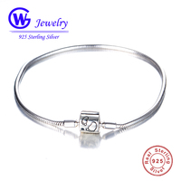 GW Fashion Jewelry 925 Silver Children Bead Bracelets The Best Gift For Your Lovely Daughter Remark The Growing Of Her