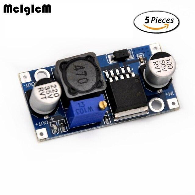 MCIGICM 5pcs DC-DC Step Down Converter Module LM2596 DC 4.0~40 to 1.3-37V Adjustable Voltage Regulator Hot sale