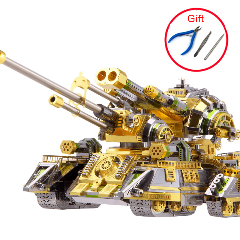 3D Metal Puzzle Model High-quality Skynet Spider Superheavy Tank Kits Laser Cut Assemble Jigsaw Educational Toys For Adult Kids недорго, оригинальная цена