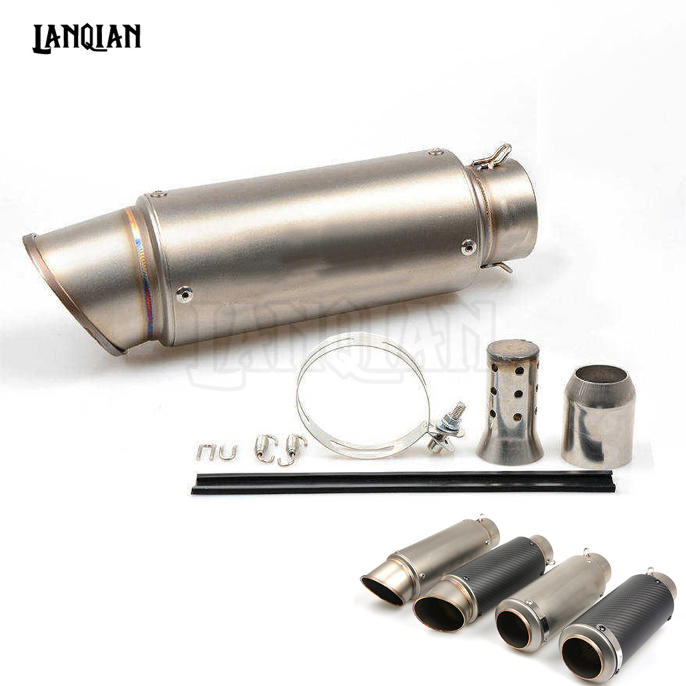 For DUCATI MONSTER 400 620 695 696 796 800 S2R 821 BMW Universal Motorcycle Carbon Fiber Exhaust Pipe GP Escape Exhaust Muffler motorcycle exhaust muffler pipe link middle for monster 696 695 2008 2014 796 795 2010 2014 696 exhaust 796 exhaust