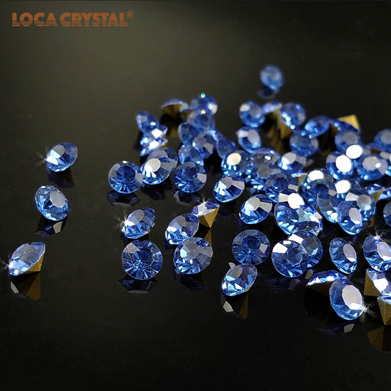 Detail Feedback Questions about Light Sapphire Color 2.0 4.8mm Piontback Glass  Chaton Beads Wedding Dress Decoration DIY Golden Base Rhinestone LOCACRYSTAL  ... de88c780bf85
