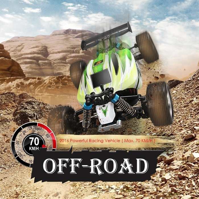 New WLtoys A959-B 1/18 70km/h 4WD Off-road Vehicle 2.4G 540 Brushed Motor Smart Tail Design Suspension Springs High Speed RC Car