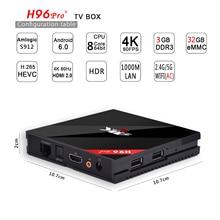 Лучший 4 К H96 PRO + UltraHD Android 6.0 TV BOX Amlogic S912 8-ядерный 3 Г 32 Г 64 Бит ARM Cortex-A53 T820 GPU KODI H.265 17.0 5.8 ггц