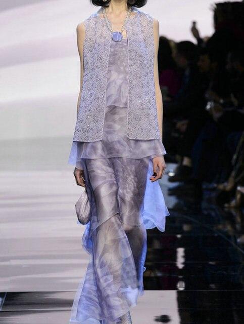 pre-sale 2016 spring and summer Women's Sets T Model Catwalk Fashion temperament sleeve less shirt + wide leg pants suit