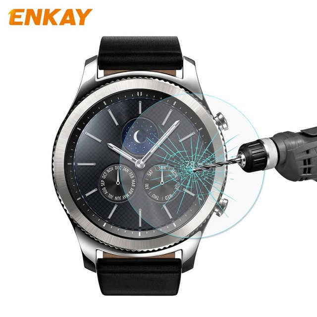ENKAY For Samsung Gear S3 Smart Watch Front Film 02mm 9H Surface Hardness 215D
