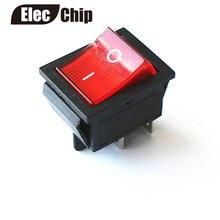 5 pcs Engatamento Rocker Interruptor Interruptor I/O 4 Pinos Com Luz 16A 250VAC 20A 125VAC KCD4