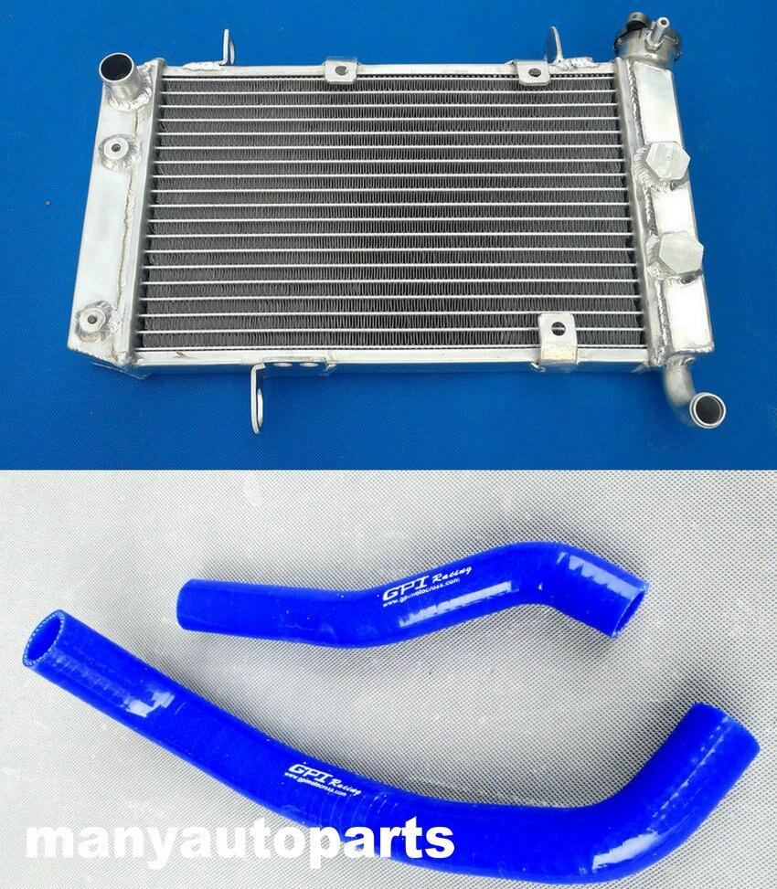 Алюминиевый радиатор и шланг LTZ/KFX/DVX 400 для Suzuki LTZ400, Kawasaki KFX400, Arctic Cat DVX400 2003 2008 radiator suzuki radiator aluminiumradiator 40   АлиЭкспресс