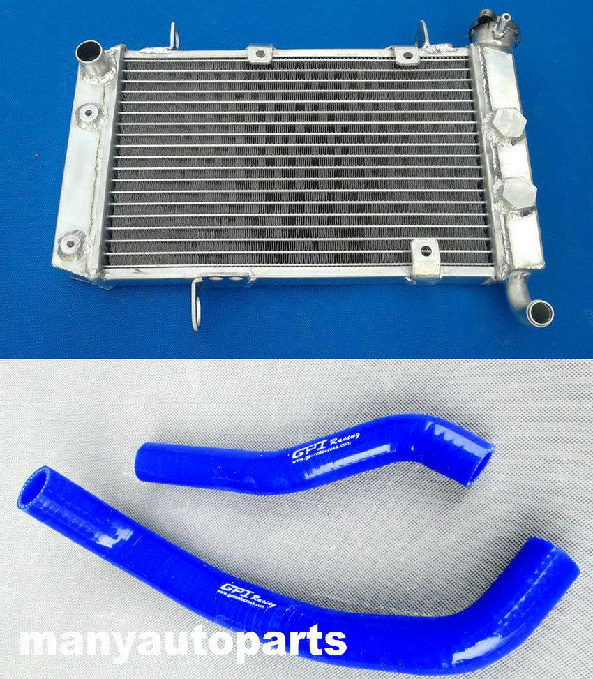 Алюминиевый радиатор и шланг LTZ/KFX/DVX 400 для Suzuki LTZ400, Kawasaki KFX400, Arctic Cat DVX400 2003-2008