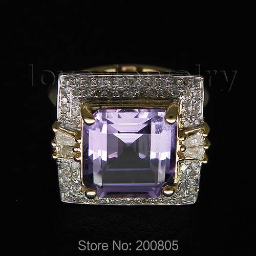 Princess Cut Solid 14kt Gold 6 10Ct Diamond Purple Amethyst Ring Wedding Amethyst Ring BAB1417