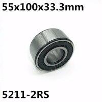5211 2RS 55x100x33.3 mm Double row angular contact bearings 5211 Free shipping