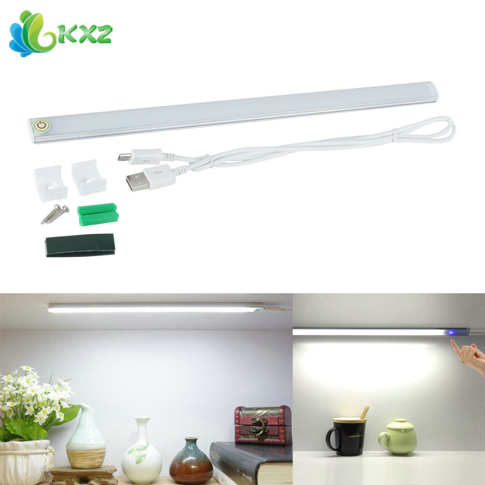 Dimmable USB 21 LED Touch Sensor Light Bar Drawer Cabinet Wardrobe Closet Kitchen Bedroom Camping Nightlight