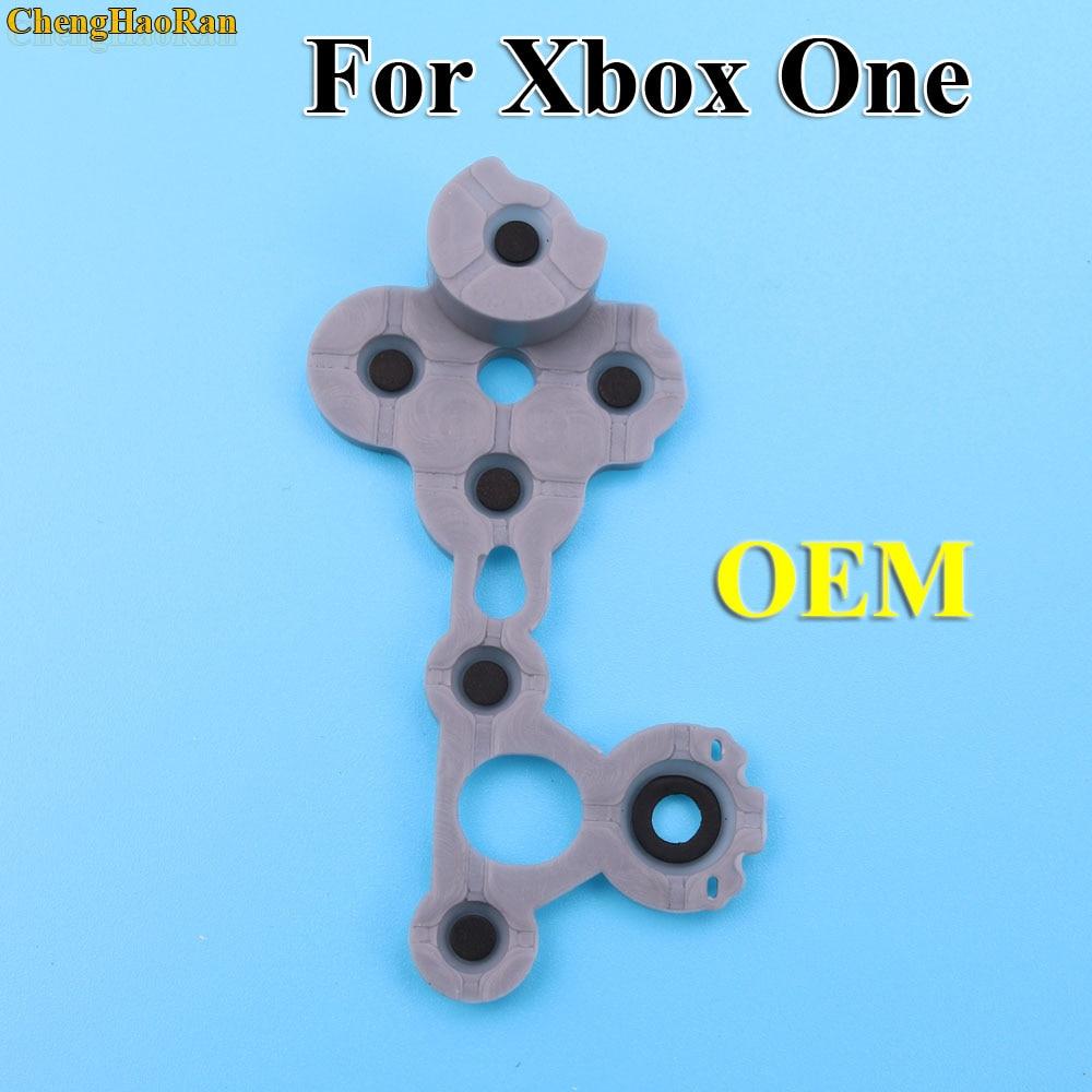 Image 2 - ChengHaoRan de caucho de silicona conductiva Botón de goma para Xbox uno Slim S controlador D PadAccesorios y piezas de reemplazo   -