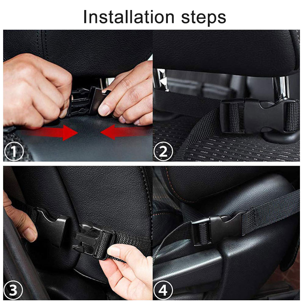 Image 5 - Car Backseat Organizer with Touch Screen Tablet Holder + 9 Storage Pockets Kick Mats Car Seat Back Protectors for Kids Toddlers-in Stowing Tidying from Automobiles & Motorcycles