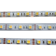 5mX высокое качество 5050SMD WW+ CW Светодиодный светильник с регулируемой цветовой температурой 12 В/24 В вход 60 светодиодный/m CCT диммер светодиодный полосы