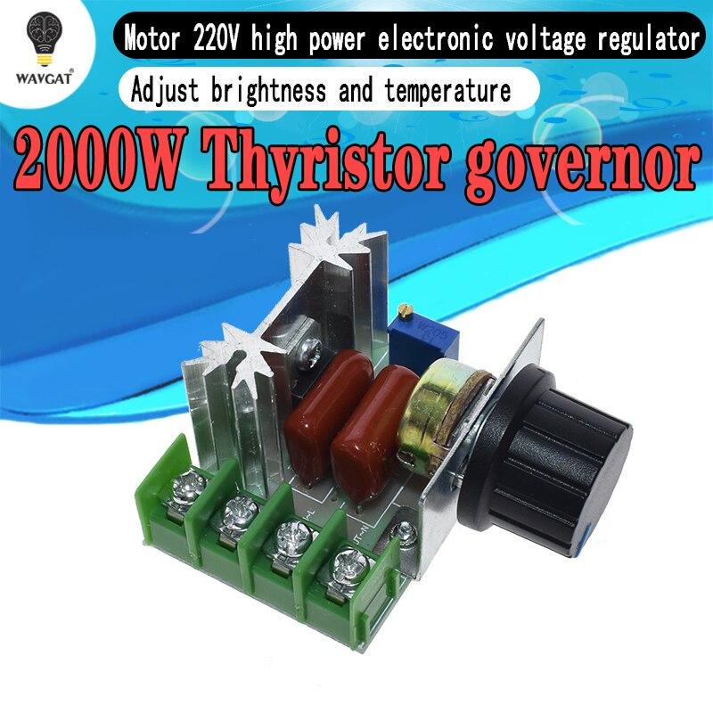 2000W SCR Voltage Regulator Dimmer Speed Temperature Controller AC  50-220V mk