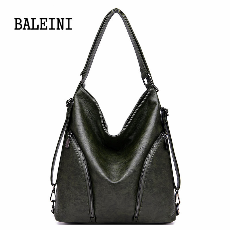 Image 4 - Genuine Leather Handbags Big Women Bag High Quality Casual Female