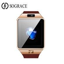Bluetooth smartwatch smart watch dz09 + tela curvada com alarm clock camera sim apoio tf cartão facebook twitter relogios inteligente