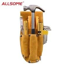 ALLSOME Durable cuero carpintero electricista herramienta cintura bolsa  alicates destornillador llevar caja soporte herramientas bolsas de 22003622365d