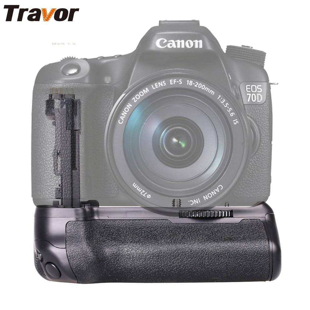 Travor Vertical Battery Grip for Canon 70D 80D DSLR Camera work with LP-E6 battery as BG-E14 meike mk 70d vertical battery grip holder with 2pcs lp e6 batteries for canon eos 70d camera replace as bg e14