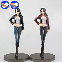 2 Colors Japan Anime One Piece Emperor Boa Hancock Hankokku JEANS FREAK Sexy PVC 18cm Model