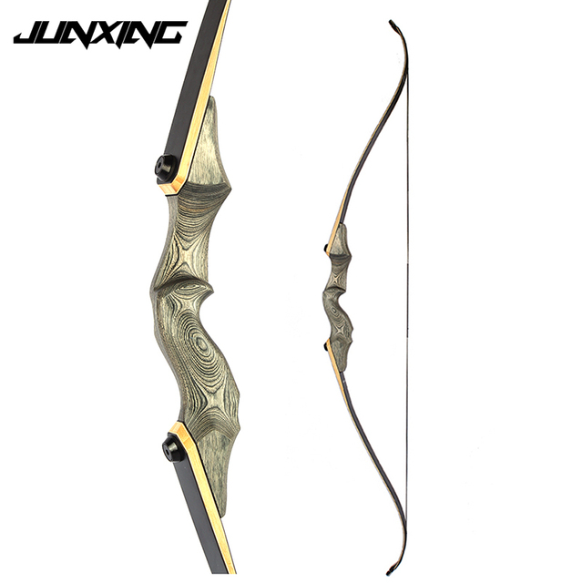 American Recurve Bow 30-50 LBS 58 inches with 15 inches Riser for Right Hand User Archery Bow Hunting Shooting