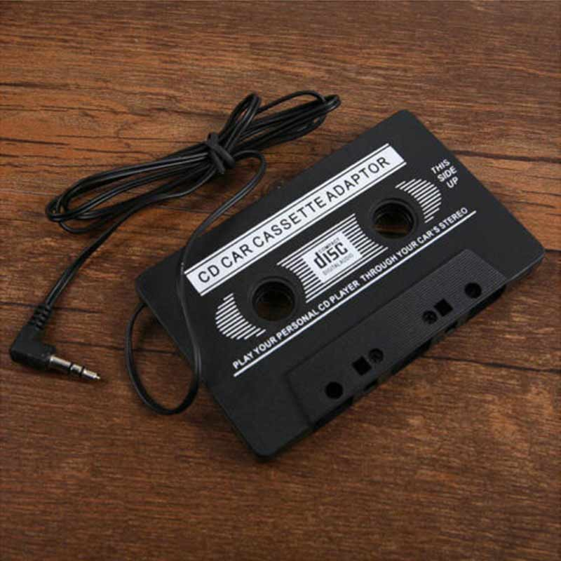 New Audio AUX Car Cassette Tape Adapter Converter 3.5 MM for iPhone iPod MP3 CD