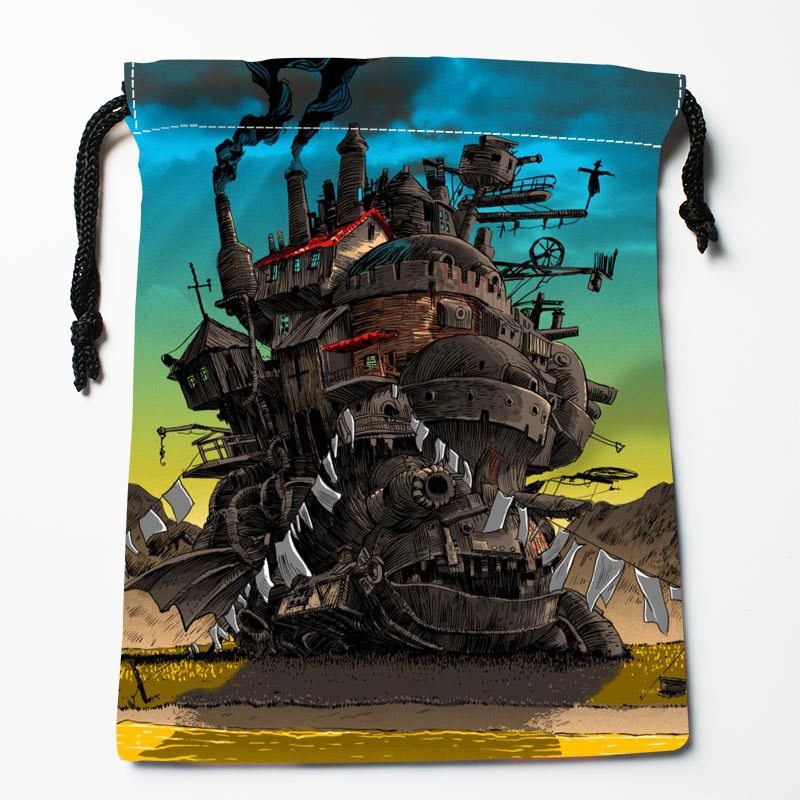 New Custom Howls Moving Castle Bags Custom Drawstring Bags Printed Gift Bags 27x35cm Compression Type Bags