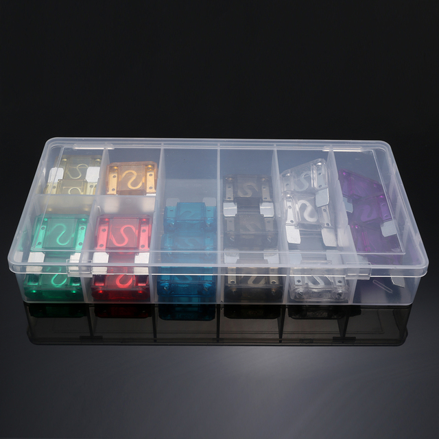 24 pcs/lot voiture camion Maxi lames fusibles 20A 30A 40A 70A 80A 100A AMP boîte en plastique assortiment