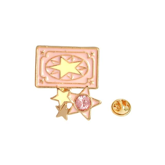 6 unids//set Animation Captor Sakura Clow Card Wings Star Stick Bird KERO Broche Collar Ramillete Camisa bolsa cap Chaqueta Pin Insignia