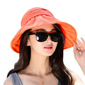 Лето свободного покроя женщины дамы анти-уф широкими полями пляж шляпа солнца элегантный полиэстер флоппи-бей богемия крышка для женщин-бич знакомства Cap W1