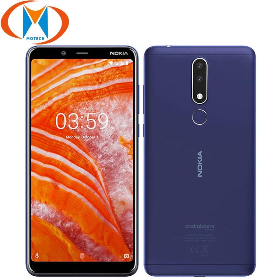 "New Original 6.0"" Nokia 3.1 Plus Mobile Phone 4G LTE 3GB 32GB Dual SIM Octa Core Android 8.1 Fingerprint 13MP Smartphone"