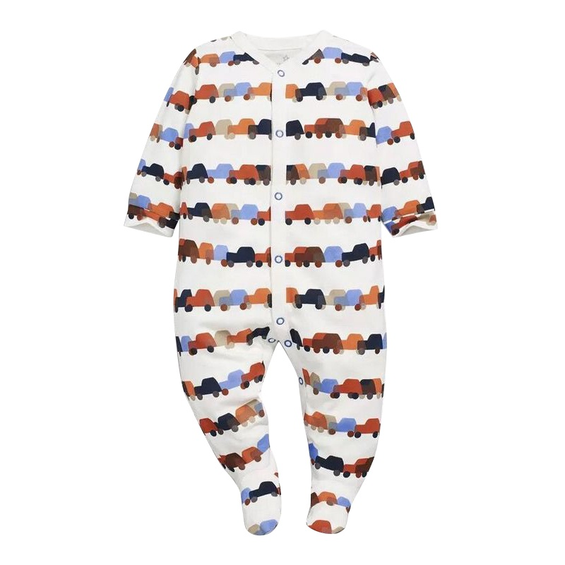 Spring Summer Fashion Casual Rompers Lovely Gift For Baby Cartoon Print O-neck White baby rompers o neck 100