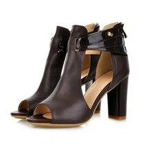 Europe 2019 Summer Women Sandals Platform High-heel Fashion Sexy Elegant Casual Shoes Woman Fish Mouth Basic Plus Size 34-43