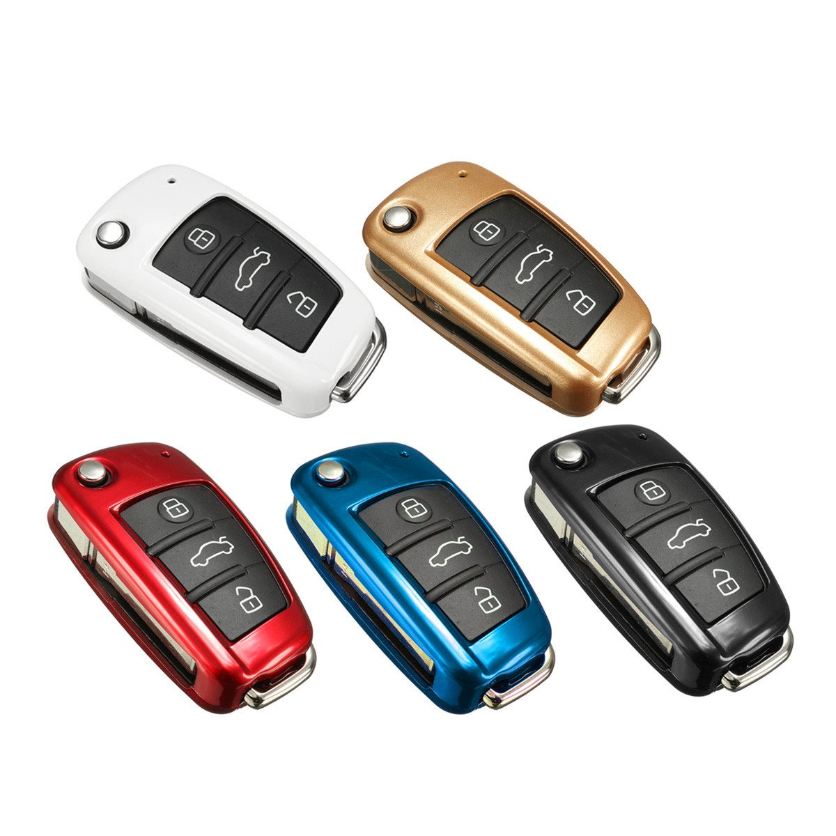 Multicolor Fernautoschlüssel Shell Fall-abdeckung Schutz ABS Kunststoff Für Audi A1 TT A4L A6 A5 A7 A8 Q3 Q7 Q5 Q7 S5 S6 S7 S8 Neue