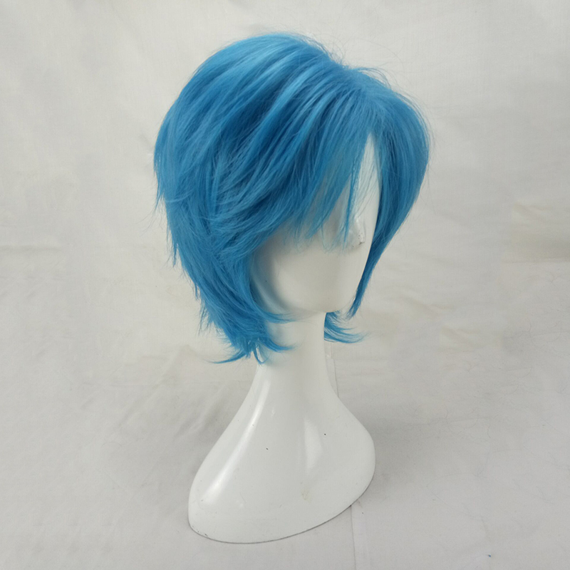 HAIRJOY Synthetic Hair Man Mint Green Layered Short Straight Male Cosplay Wig Free Shipping 5 Colors Available 55