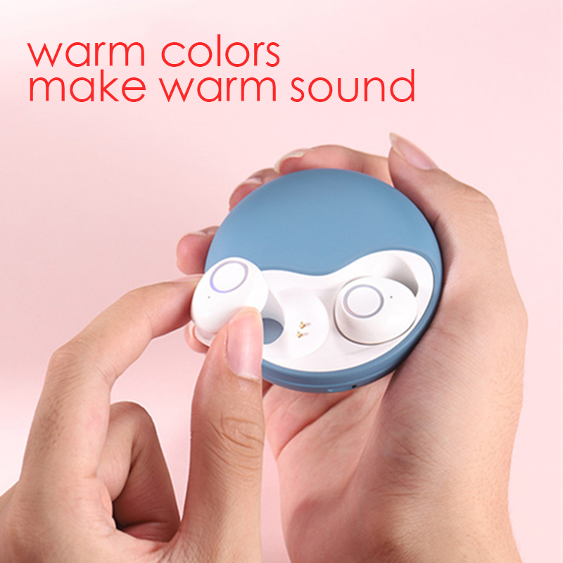 Bluetooth 5 0 waterproof sports earbuds binaural TWS in ear earbud With charging box bluetooth earphone for girls in Phone Earphones Headphones from Consumer Electronics