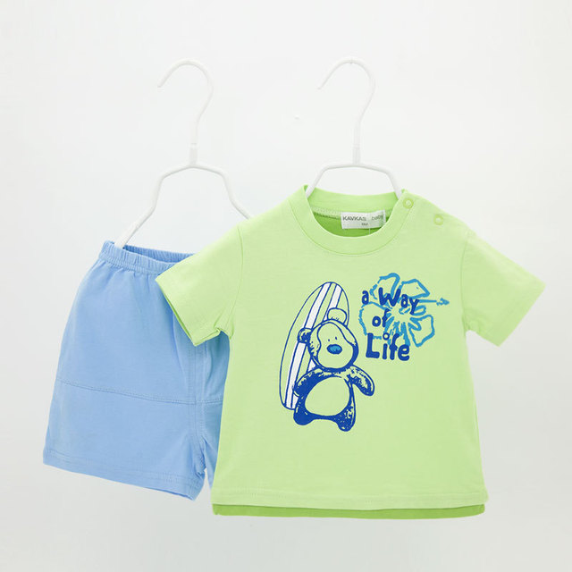 1 set 2pcs shorts+t shirt short Sleeve Baby boy Clothing suit Children Clothes Set Newborn Baby boy Clothes Cotton Baby set bebe