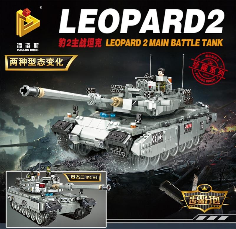 Military Block 632003 2311pcs Leopard2 Main Battle Tank Building Blocks Bricks Enlighten Toy For Children Compatible Legoed Tank
