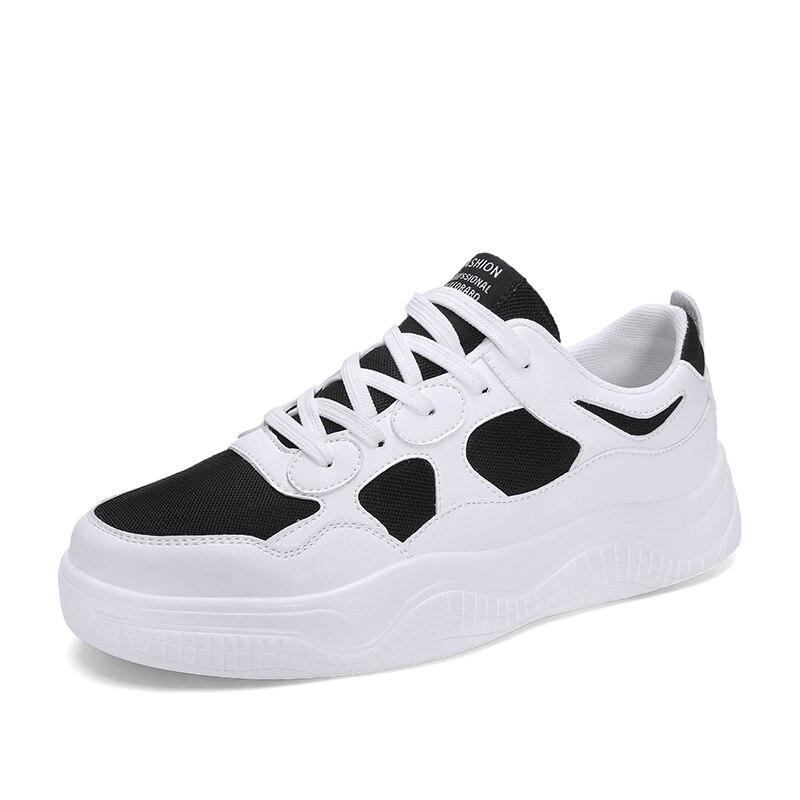 Marque chaussures décontracté respirant chaussures à lacets chaussures de marche léger confortable maille baskets hommes chaussures noir grande taille 5J658