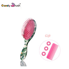 2019 Professional Massage Hair Brush Shower Comb Wet Detangling Hair Brush Salon Hair Styling Tools with Two Gifts (Medium Size) 2019 new anti static hair brush massage comb shower wet detangling hair brush salon hair styling tools with twogifts small size