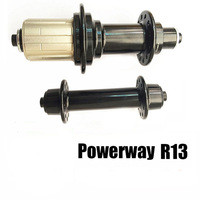 Ultralight POWERWAY R13 Carbon Bike Racer Road Bicycle Aluminum Hub 3 Pattern 18/21, 16/21 Hole 16 18 20 21 24 Holes