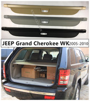 Rear Trunk Cargo Cover Security Shield For JEEP Grand Cherokee WK 2005 2006 2007 2008 2009 2010 High Qualit Auto Accessories
