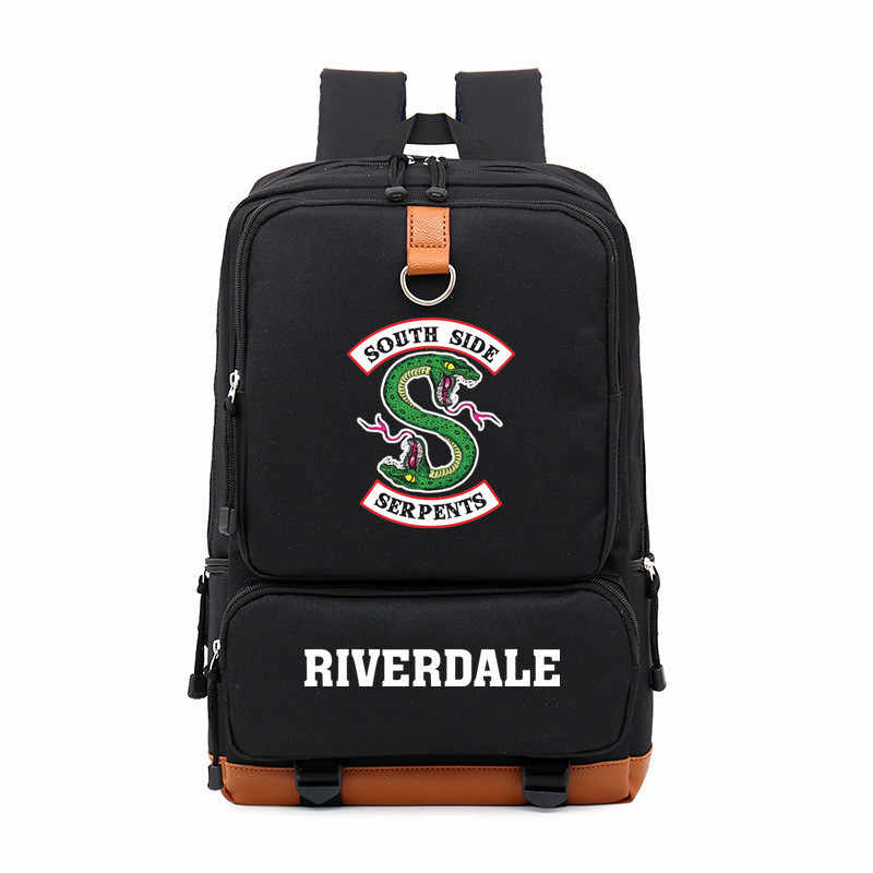Riverdale South Side Snake Backpack Shoulder Travel Bag for Teen Men's and Women's Casual Laptop Bags