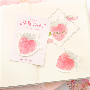 Kawaii Strawberry Cake Sticky Note Sticker Bookmark Marker Memo Pad Stick Flags School Office Supplies Bullet Journal sl1993