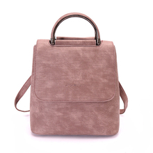 2019 New Women Vintage Backpack Girl School Shoulder Bag Rucksack Leather Travel Crossbody Bags
