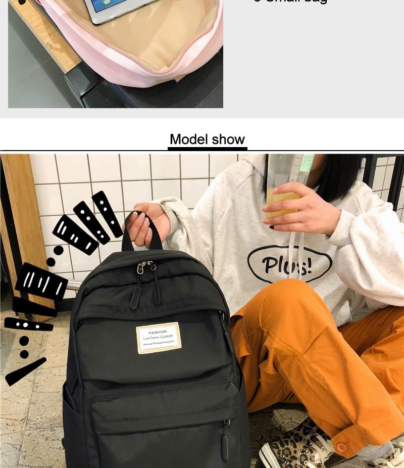 HTB1spRwbtfvK1RjSspoq6zfNpXac DCIMOR Waterproof Nylon Women Backpack Female Large capacity high schoolbag Korean Vintage girl Shoulder Bags Travel Bag Mochila
