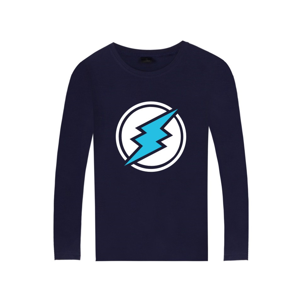 Electroneum Logo Print T-shirt Blockchain Electroneum Cotton Long Sleeve Tees Bitcoin Electroneum cryptocurrencies Summer tshirt